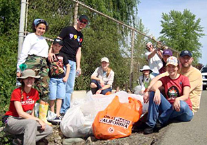 AES staff at Creek Week Cleanup