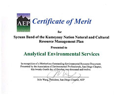 AEP Sycuan NRP Certificate